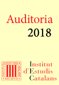 Informe auditoria i memòria econòmica 2018