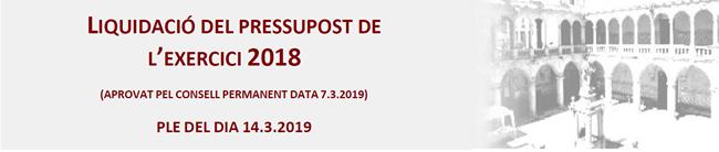 Liquidació pressupost 2018