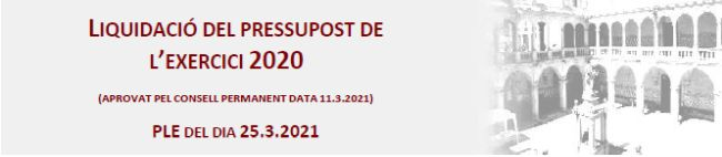 liquidació Pressupost exercici 2020